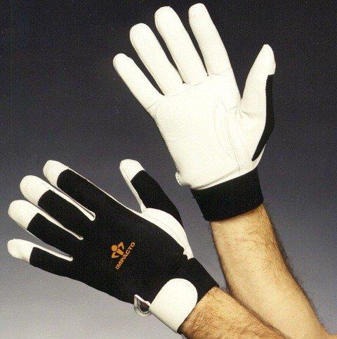 Impacto BG41330 Anti-Vibration Air Glove, Black/White