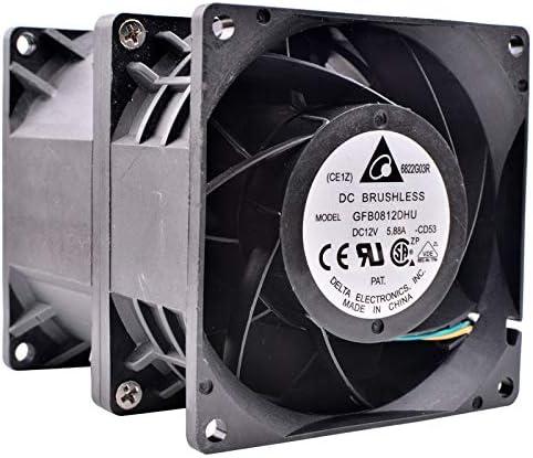 Brand new original Delta GFB0812DHU 80x80x90mm DC12V 5.88A Servo server large air volume cooling fan