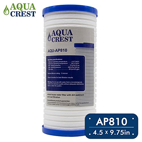 AQUACREST AP810 Replacement for 3M Aqua-Downright AP810, AP801, Whirlpool WHKF-GD25BB, 5 Micron Whole House Water Filter (Package May Vary)