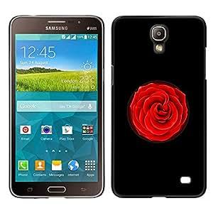 GIFT CHOICE / Teléfono Estuche protector Duro Cáscara Funda Cubierta Caso / Hard Case for Samsung Galaxy Mega 2 // Black Red Rose Flower //