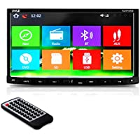 Premium Pyle 7-Inch Double-DIN Car Stereo Receiver With Bluetooth, Android, Dash Touchscreen Display Screen, TFT/LCD Monitor, CD/DVD Player, Multimedia Disc/MP3/MP4/USB /SD/AM/FM (PLDNV695B)