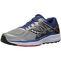 Saucony Omni 16 Mens or Womens Running Shoes (Grey/Navy/Orange)