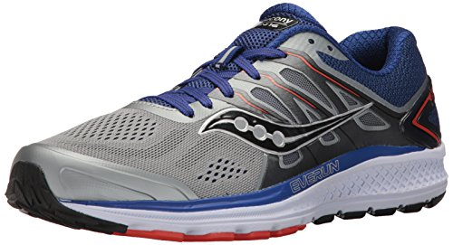 Saucony Men's Omni 16 Running Shoe, Grey Navy, 10.5 M US