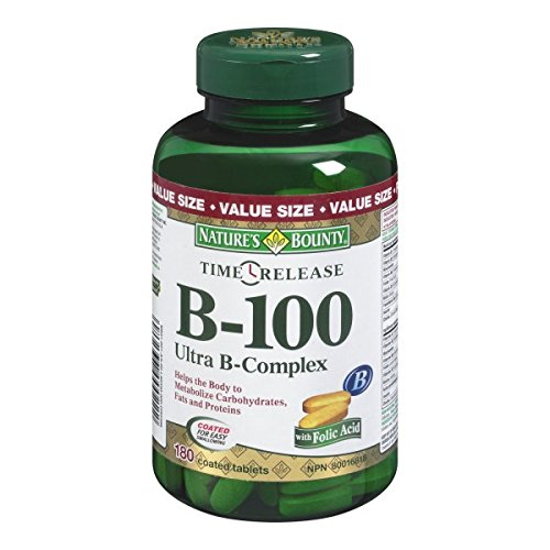 Nature's Bounty B-100 Ultra B-Complex Time Release, 180 Tablets (packaging may vary)
