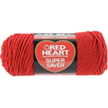 Red Heart E300.0319 Super Saver Economy Yarn, Cherry Red
