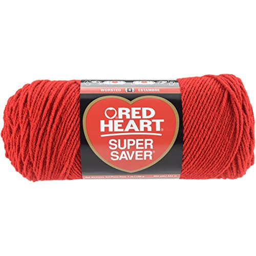 Yarn Red Heart (Red Heart E300.0319 Super Saver Economy Yarn, Cherry Red)
