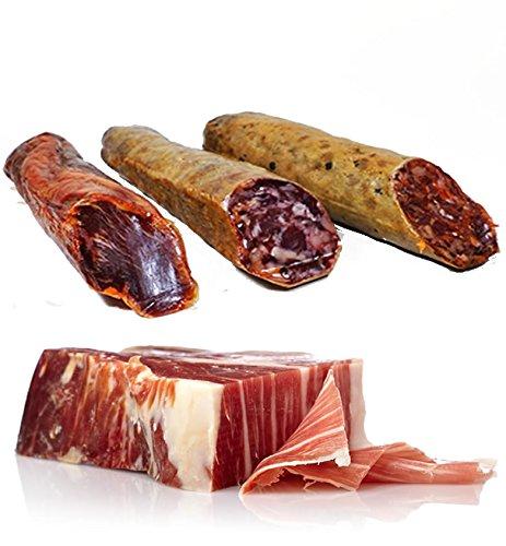 Lote de productos Ibéricos de Bellota compuesto por Salchichón ...