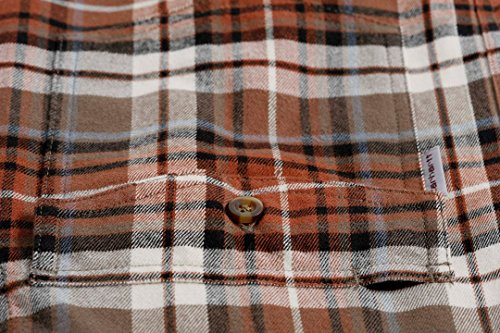 Longsleeve Carhartt Flannel Brown Light Slim Shirt Fit 805zq