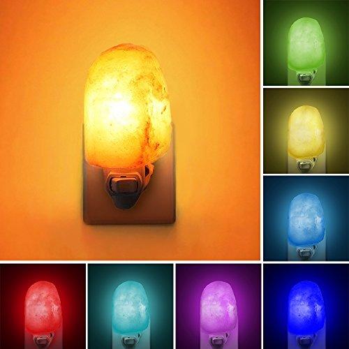 - Natural Himalayan Salt Lamp, Waynewon Plug in Hand Carved Crystal Night Light - Best Living Room, Bathroom, Hallway Light [2 Bulbs]