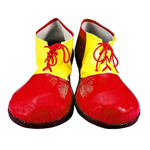 Kids Oversized Clown Shoes (Red and Yellow Child Oversized Clown Costume Shoes)