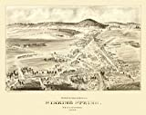 FDW Antique Map of Sinking Spring Pennsylvania 1898 Berks County (24x36 Paper Poster)