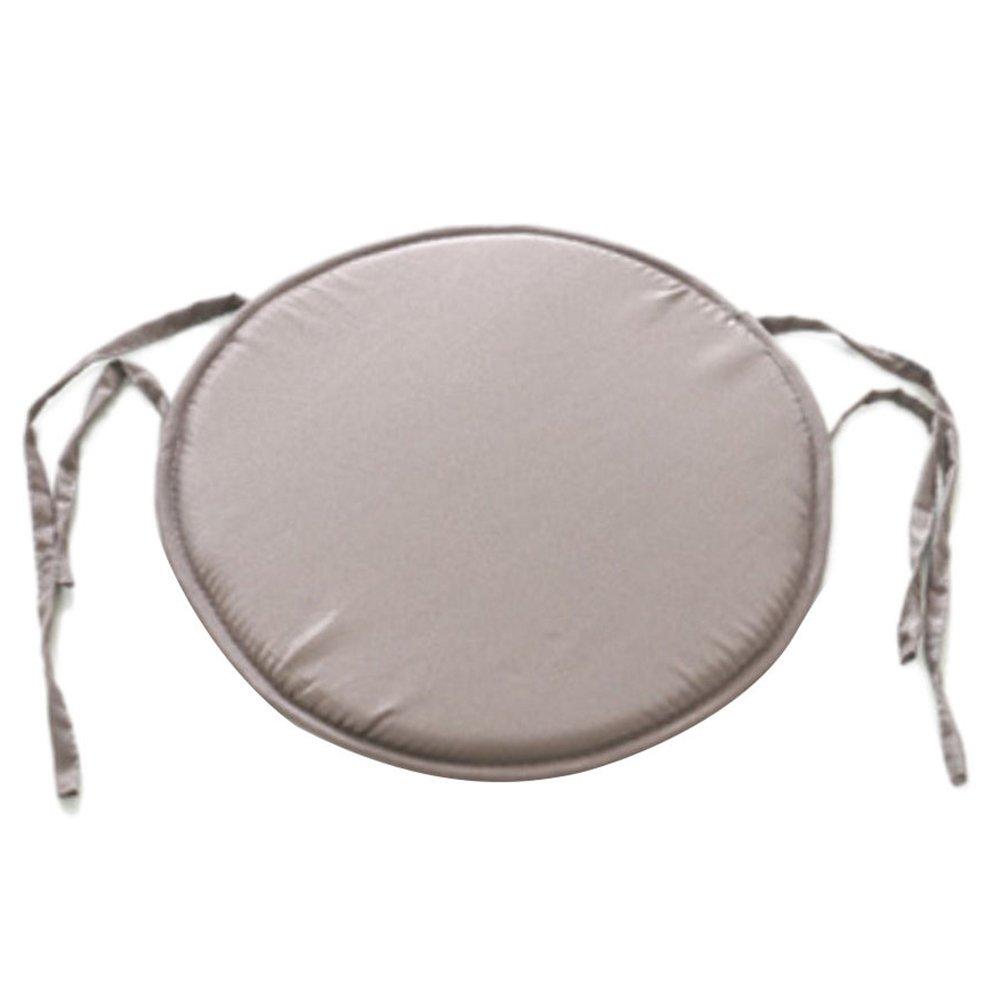 Emvanv Cuscino rotondo imbottito per sedia, da interno, per sala da pranzo, giardino, casa, ufficio e cucina, Light Grey, Taglia libera