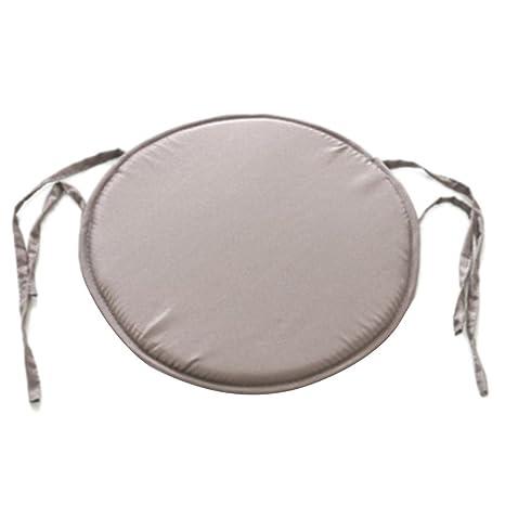 Cojín redondo acolchado para silla, de EMVANV, para uso exterior e interior, para la casa o la oficina, gris claro, Tamaño libre