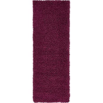 Amazon Com A2z Rug Cozy Shaggy Collection 2x6 Feet Solid