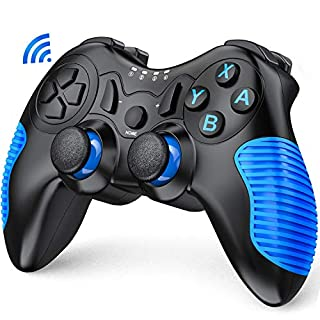 Switch Controller for Nintendo, BEBONCOOL Wireless Controller for Nintendo Switch/ Switch Lite Console, Switch Remote Pro Controller Gamepads with Dual Shock Gyro Axis Blue Anti-Skid