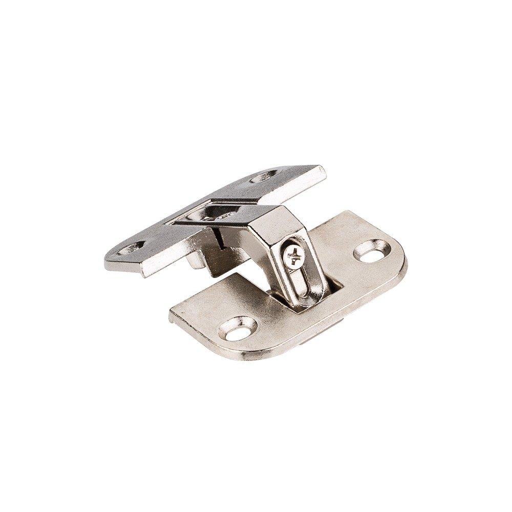 3 Pack Pie Cut Corner Hinges - Strong Zinc Die Cast with Nickel Plating - 6-way Adjustable (3 Dimensional) Hinge