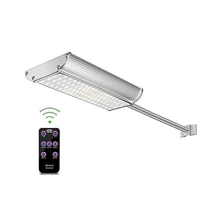 Amazon.com: WZTO - Lámpara solar de pared con barra de ...