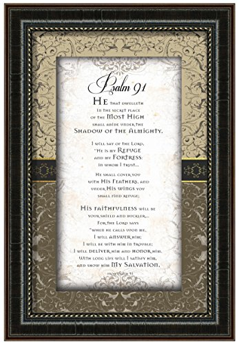 Carpentree 83856 Psalm 91 Framed Art, 13 x 19