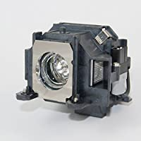 FL ELPLP76 V13H010L76 Projector Video Lamp Bulb Replacement With Housing For PowerLite Pro G6050W G6050WNL G6150 G6150NL G6450WU G6450WUNL G6550WU G6550WUNL G6750WU G6750WUNL G6800 G6800NL G6900WU G6900WUNL EB-G6050W G6250W G6350 G6450WU G6550WU G6650WU G6800 G6900WU Original Lamps Wick and Reflector With Genie Cover Sharp Picture 2500 hrs Life High Definition and Brightness