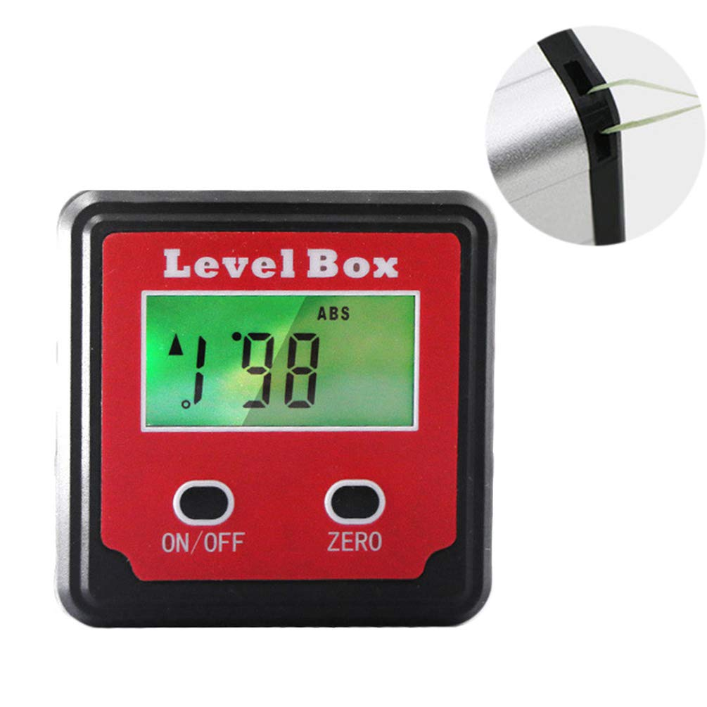 Digital Angle Finder Gauge LCD Digital Screen Easy to Read with Magnetic Portable Backlight Compact Energy Saving Angle Finder Gauge by Lin-Tong