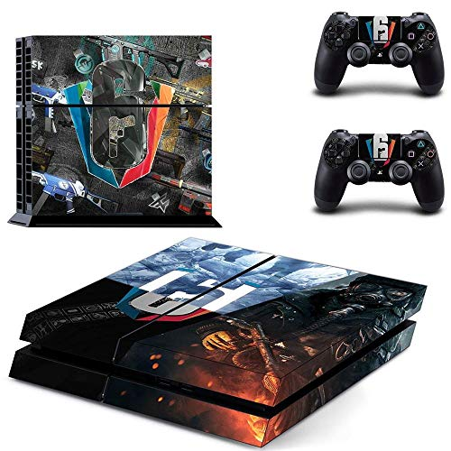 Playstation 4 Skin Set - FPS Game - HD Printing Vinyl Skin Cover Protective for PS4 Console and 2 PS4 Controller by Amity Partners (Best Rainbow Six Siege Skins)