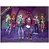 "Single Source Party Supplies - Monster High Cake Edible Icing Image #1 - 8.0"" X - 10.5"" Rectangular"