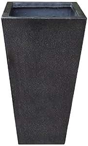 Algreen Acerra 10,25por 19pulgadas cuadrado maceta, pequeñas, color negro granito