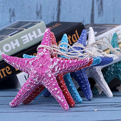 T-QTBG Creative Color Skull Resin Starfish Wall Decoration Pendant Home Decorations, Five-Pointed Star 23cm Light Blue
