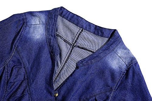 Ocasional Toma Camisa Inspiración Corta Falda Denim Camiseta Mini Cinturrón Beauty7 Sexy Vestido Vaquero Casual Dress Bonita Kimono Con Como Mezclilla De Manga wCH6a7