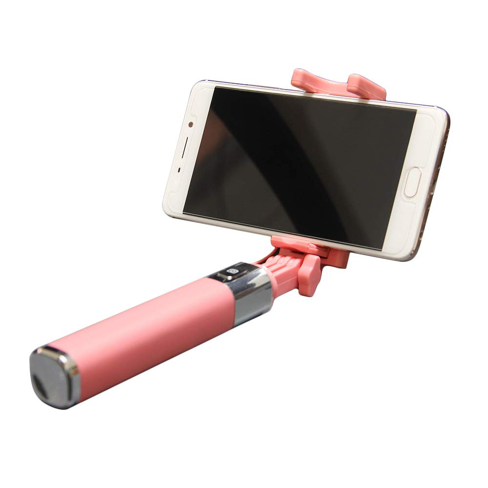 Selfie Stick, Dupad Story Universal 3.5mm Selfie Stick [No Bluetooth] Extendable Monopod Wired with HD Rearview Mirror for iPhone 6s 6 Plus 5s 5 Android Samsung Galaxy S7 Edge/S4 Smart Phones(Pink)