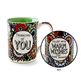 """Our Name is Mud """"Thinking of You"""" Cuppa Doodle Stoneware Mug, 16 oz."""