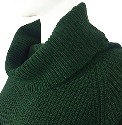 30ac25a8b2 Fengtre Women s Loose Oversize Turtleneck Wool Long Pullover Sweater Dress  Green M