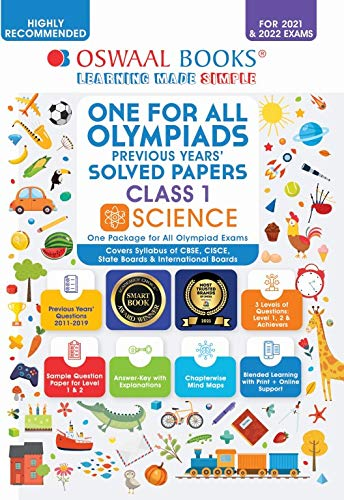 One for All Olympiad Previous Solved Papers, Class-1 Science Book (For 2021-22 Exam)