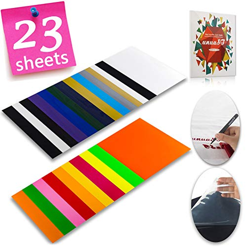 (Heat Transfer Vinyl HTV Bundle Variety Pack Assortment for T Shirts Fabric 12x10