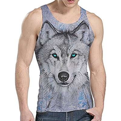 NEWISTAR Mens 3D All Over Print Tank Tops Sleeveless Shirt for Gym Sports S-XXL