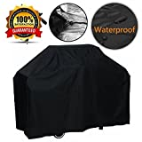femor Grill Cover, Medium 57-Inch BBQ Cover Waterproof, Medium Duty Gas Grill Cover for Weber, Holland, Jenn Air, Brinkmann and Char Broil -Black Review