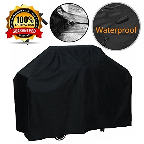 femor Grill Cover, Medium 57-Inch BBQ Cover Waterproof, Medium Duty Gas Grill Cover for Weber, Holland, Jenn Air, Brinkmann and Char Broil -Black