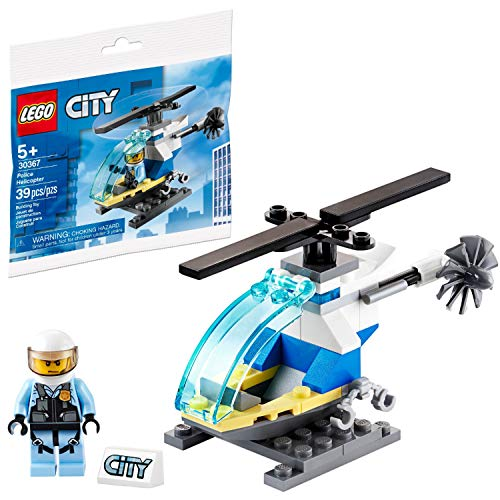 LEGO City Minifigure Polybag - Police Helicopter with Pilot and Stand 30367