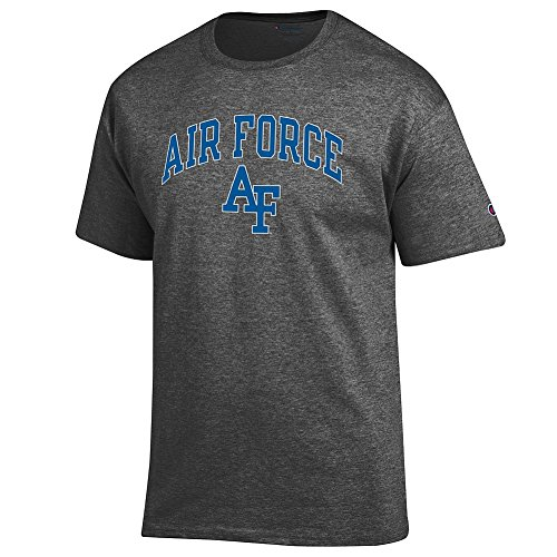 - Elite Fan Air Force Falcons Men's Short Sleeve Arch Tee, Dark Heather, XX Large