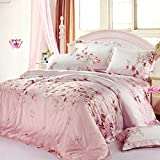 DHWM-The two sided Tencel bed consider four piece, bedding, spring, summer and bare bed linens a ,1.5m