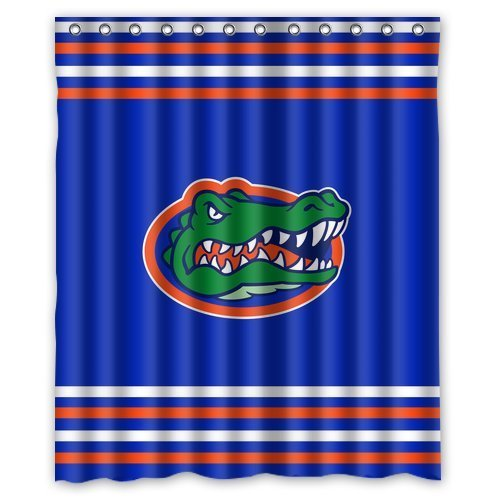 - Aloundi Fashion Press Flawless Gorgeous Creative Florida Gators Shower Retro Curtain Shower 100% Waterproof Polyester Fabric Inches Standard
