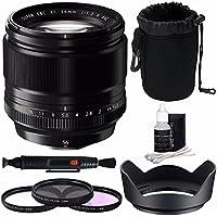 Fujifilm XF 56mm f/1.2 R Lens + 62mm 3 Piece Filter Set (UV, CPL, FL) Bundle 1
