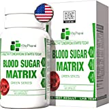 Blood Sugar Matrix by VitaPharm Nutrition | Ultra Sugar Stabilizer. Control Sugar, Pressure and Glucose Levels. Support Healthy Heart,Insulin & Balance Cholesterol. 60 Gluten Free Capsules