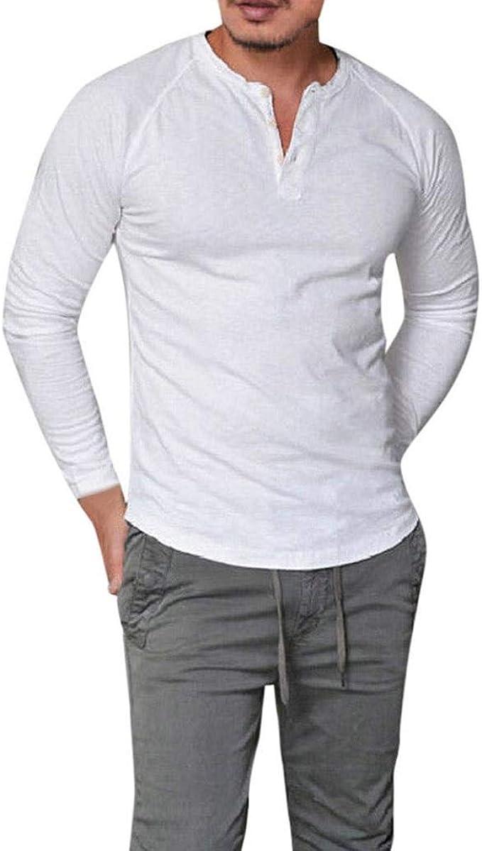 Festival Obiettore commemorativo  Top Manica Lunga da Uomo, Moda Uomo Slim Fit Taglie Comode con Scollo A V  T-Shirt
