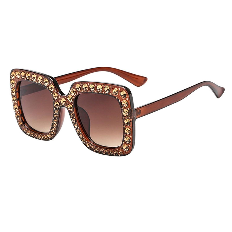 Haodasi Sonnenbrillen für DamenDicke Rechteckig Bling Diamant Groß ...