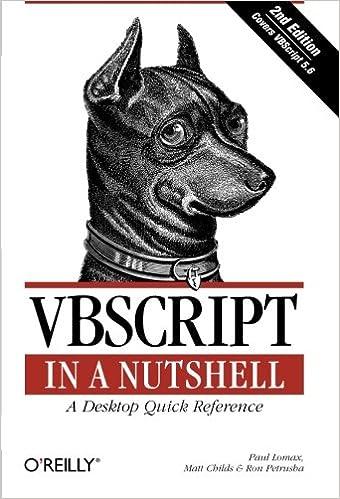 VBScript in a Nutshell, 2nd Edition: Paul Lomax, Matt Childs