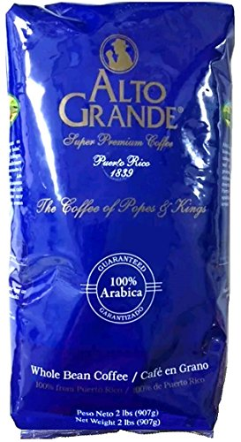Alto Grande Premium Coffee Whole Bean - 2 Lbs (The Best Of Puerto Rico)
