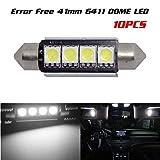 98 silverado dome light cover - Partsam 10x White LED Interior Dome Map Lights 4-5050-SMD Canbus Error Free Lamps 12V