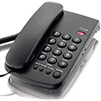 KerLiTar K-P041 Basic Corded Phone with Redial Mute Function Landline Telephone Wall Mountable(Black)