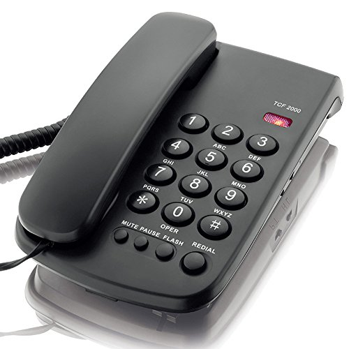 KerLiTar K-P041 Basic Corded Phone with Redial Mute Function Landline Telephone Wall ()